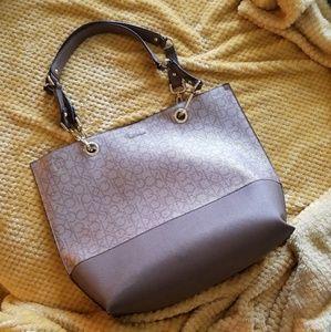Calvin Klein Tan Tote Bag/Purse